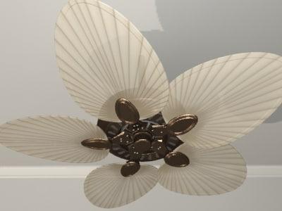 3d ceiling fan blades model