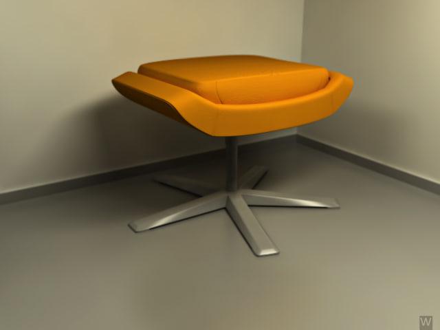 3d model apricot lampart chair