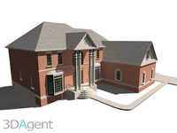 3d model income house exterior