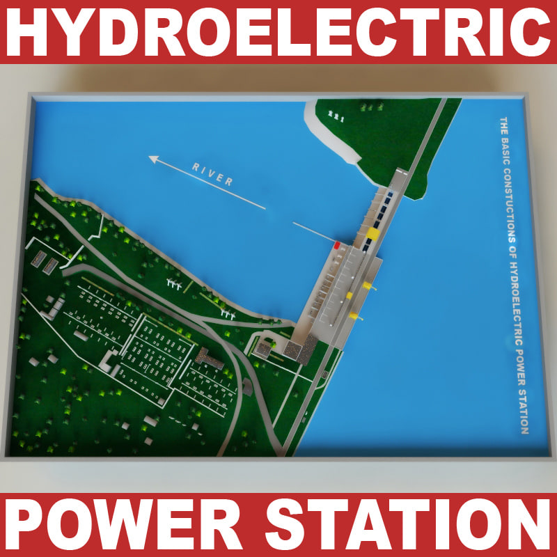 hydroelectric power station c4d