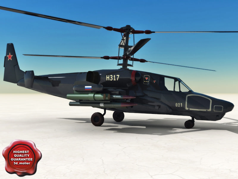 3d model kamov ka-50 black shark