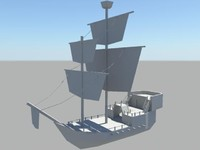 Low Poly Pirate Ship 1