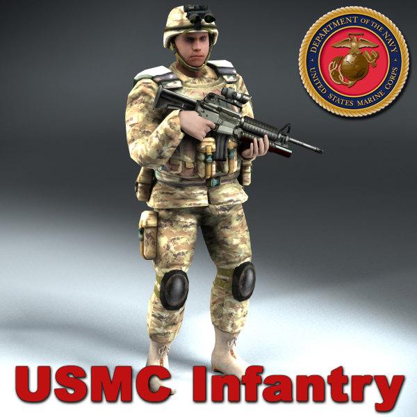 3d usmc infantry model