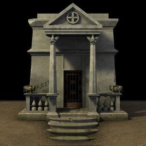 3d model crypt graveyard
