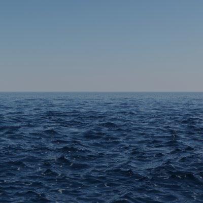 sea scene 3d max
