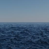 Procedural sea scene