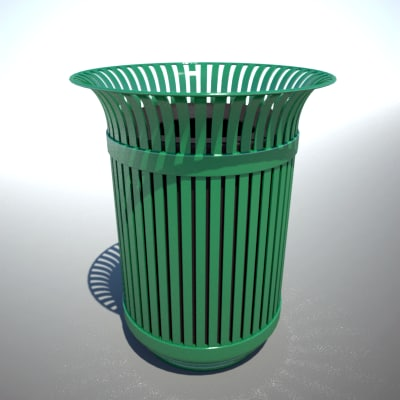 outdoor trash 3d model