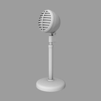 base microphone 3d model
