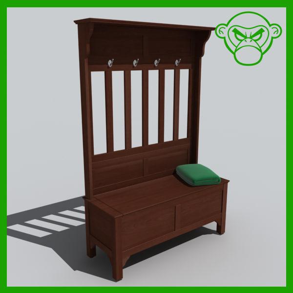 entry bench 3d model