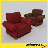 3d 3ds reading chairs