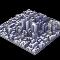 3d model city district iii