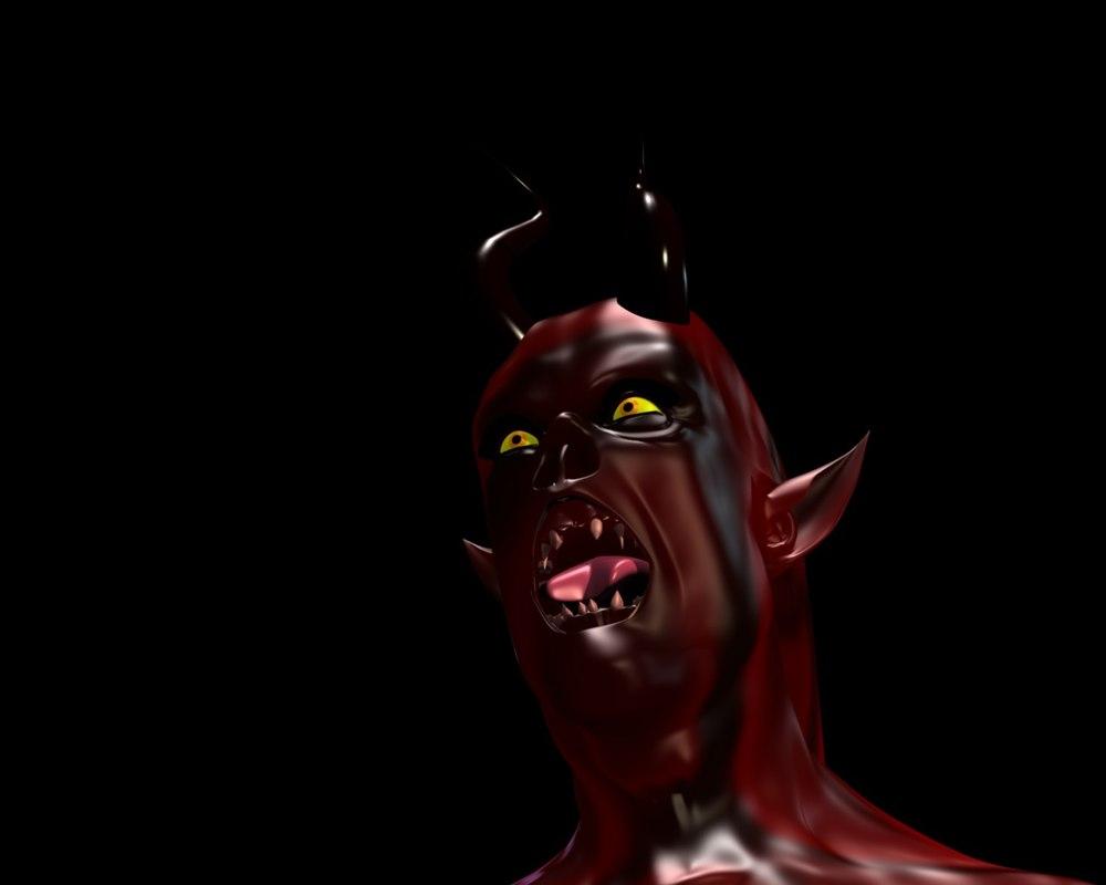 female fell demon 3d model