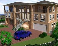 3d model 3 storey dwelling