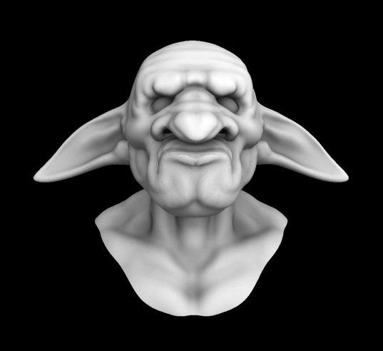 3d model head goblin