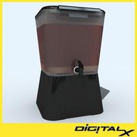 ice tea plastic 3d max