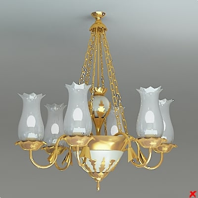chandelier lamp 3ds