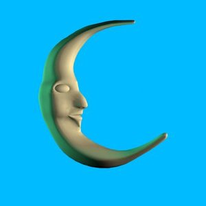 dxf cartoon moon