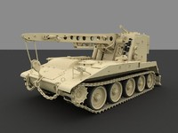 3d light armored recovery vehicle model