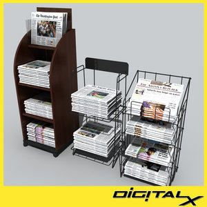 3d newspaper stands model