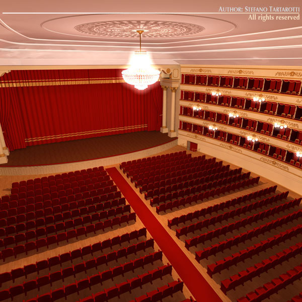 classical theatre 3d model