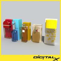 3d model perfume bottles