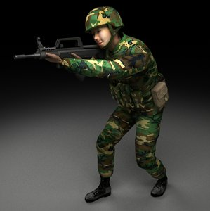 3ds chinese soldier