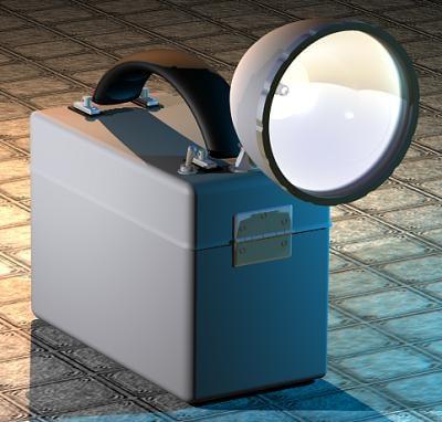 box flashlight light cob 3d 3ds