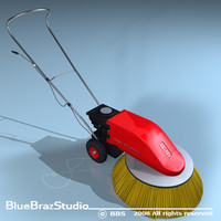 road sweeper 3d c4d