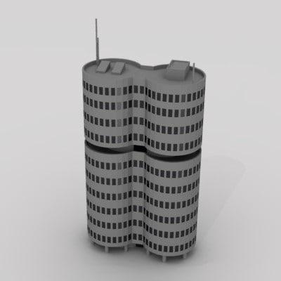 3d model skyscraper sky scraper