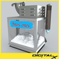 snow cone machine 3d fbx