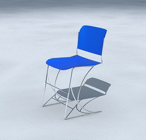 3d stacking chair
