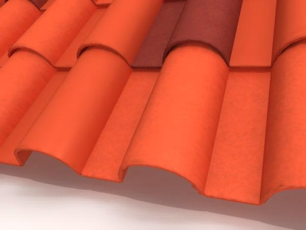 spanish tile roofing houses 3d model