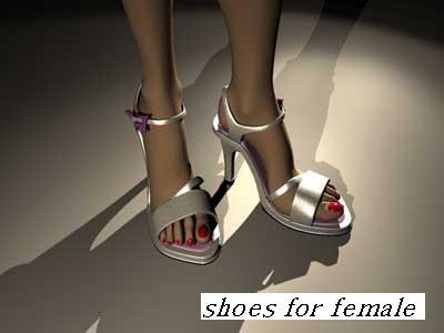 3d model womanish sandals shoe
