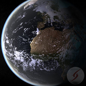 3ds max planet earth