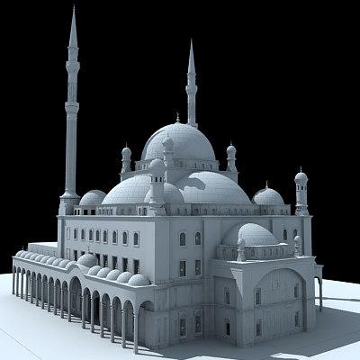 3d model mohamed ali mosque