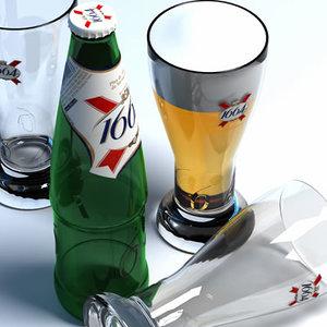 3d 1664 beer glass