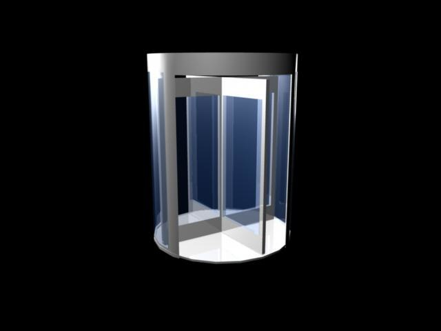 3d revolving door