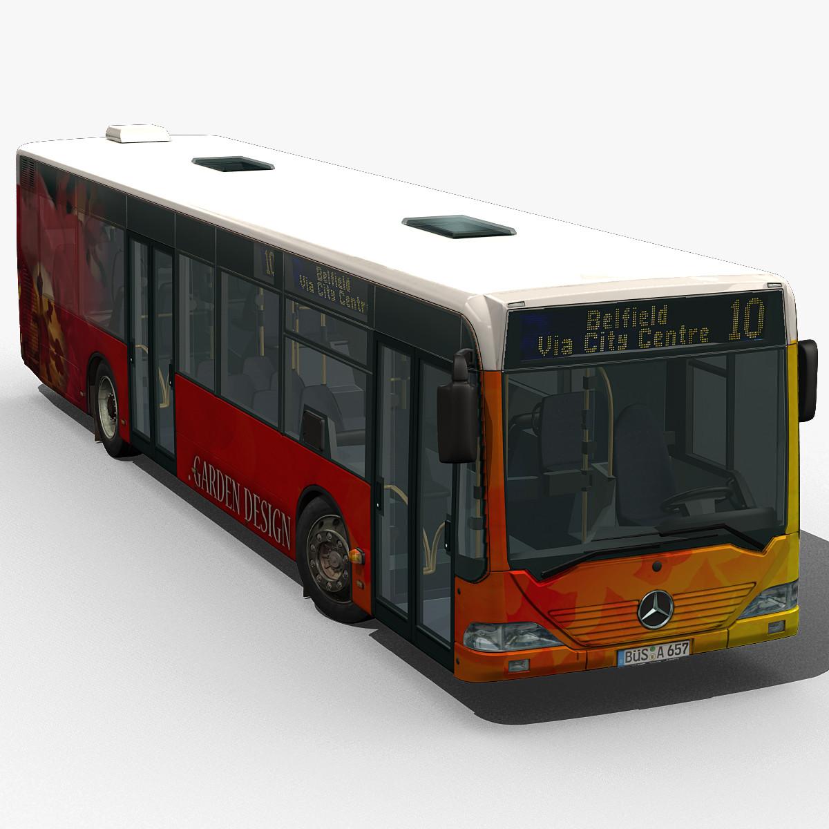 3d max city bus citaro rigged