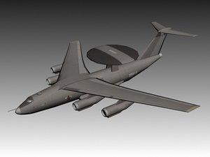 beriev a-50 shmel awacs 3d model