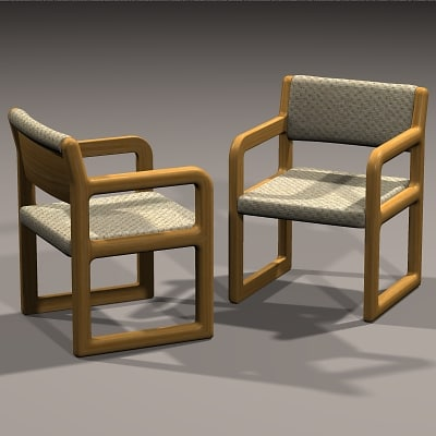 contemporary chair 3d obj
