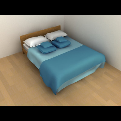 3ds max bed double