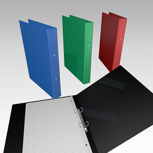 two-ring ring binder 3d model