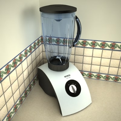 kitchen blender 3d max