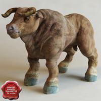 bull modelled 3d obj