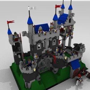 3d lego royal knight s model
