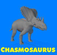 chasmosaurus 3d model