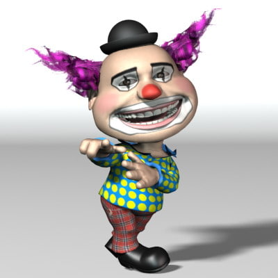 3d model funny clown