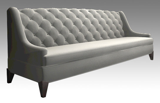 3d tufted couch vince model