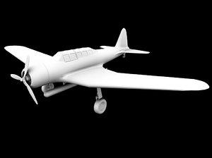 obj japanese fighter plane kate
