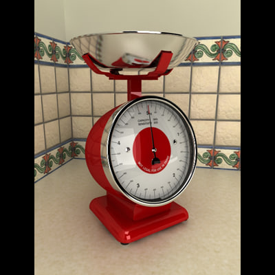 3d model kitchen scale